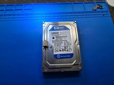 Apple 500GB Western Digital Hard Drive WD5000AAKS Data Recovery, sledge hammer damaged drive out of an iMac. Can it be recovered?